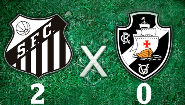 O Santos vence o Vasco da Gama, na Vila Belmiro !