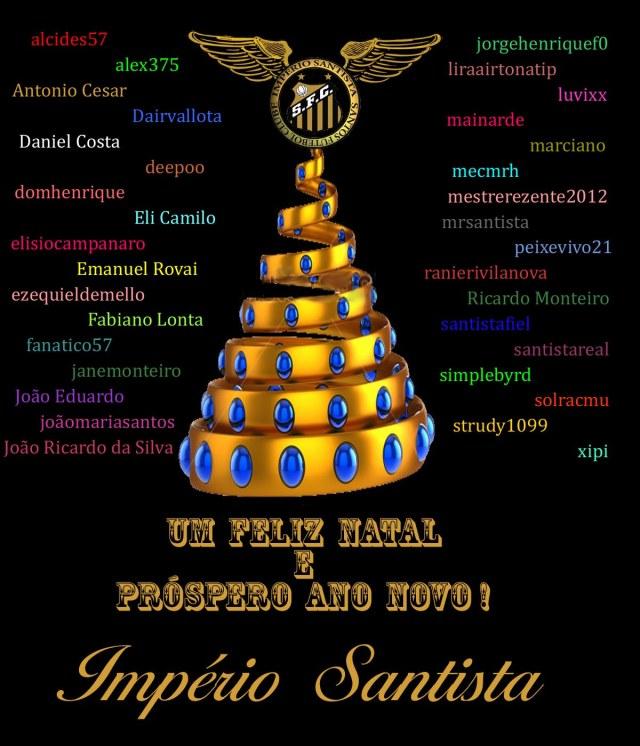 Boas Festas a todos os participantes do Império Santista !