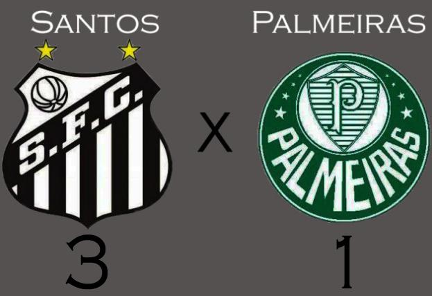 Santos vence o Palmeiras na Vila !