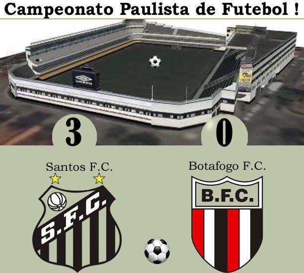 O Santos vence o Botafogo na Vila !