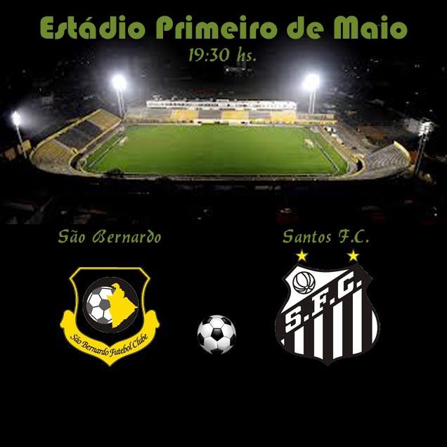São Bernardo e Santos, hoje às 19:30hs.