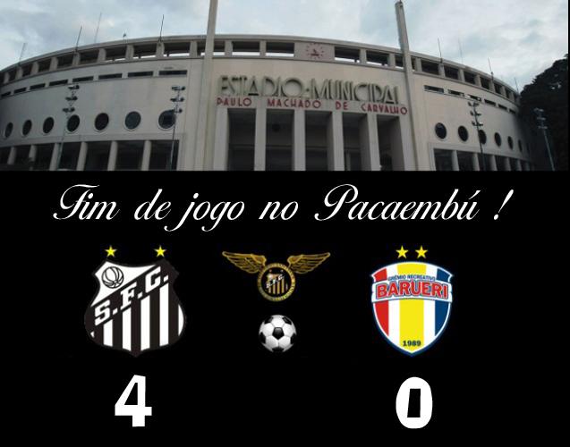 Santos vence o Barueri por 4 x 0 no Pacaembú !