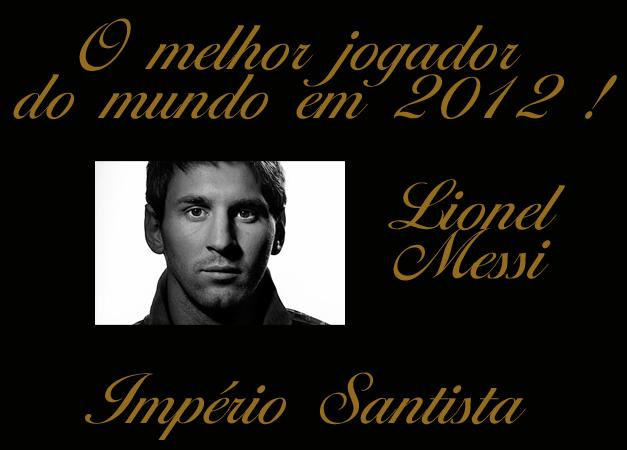 O melhor jogador do mundo em 2012 !