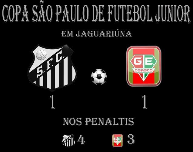O Santos elimina o Osasco nos penaltis !