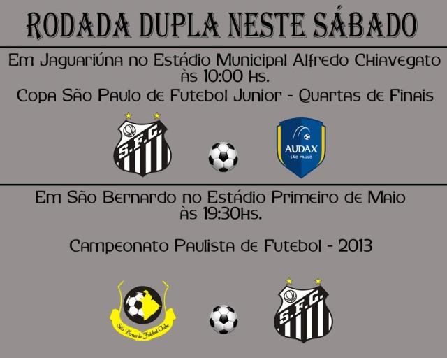 Santos F.C. :Rodada dupla neste sábado !