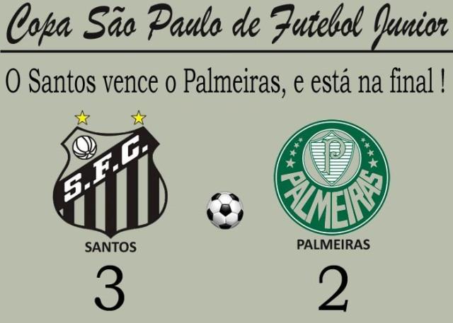 Santos bate o Palmeiras, e vai para a final !