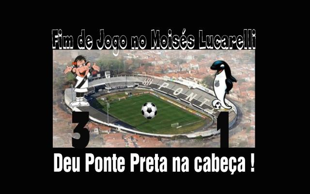 Ponte Preta passeia contra o Santos em Campinas !