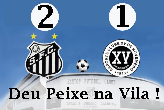 O Santos vence na Vila !