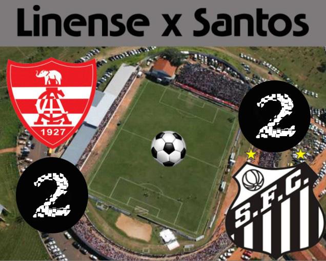 Linense e Santos empatam em Lins !