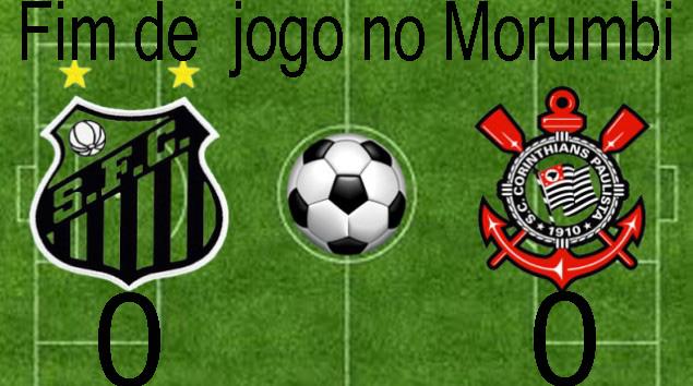 Em jogo de baixo nível técnico, Santo e Corinthians ficam no zero !