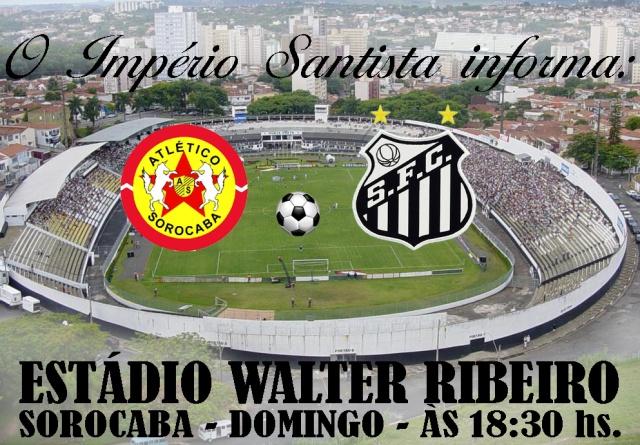 O Atlético Sorocaba recebe o Santos neste domingo !