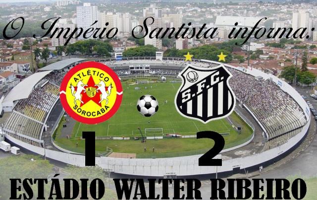 O Santos F.C. vence o Atlético em Sorocaba !