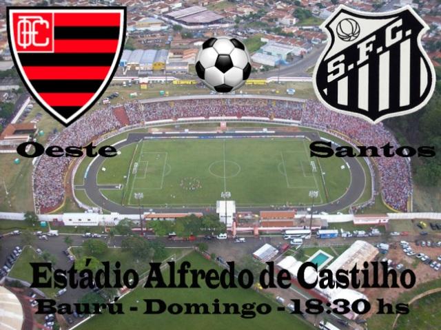 Santos venceu o Oeste - 2 x 1