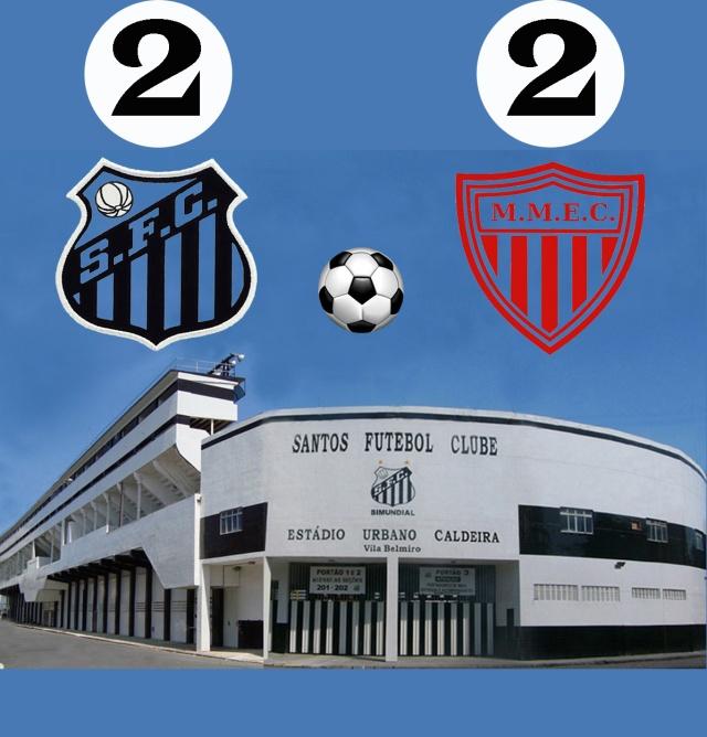 Santos empata com o Mogi na Vila !