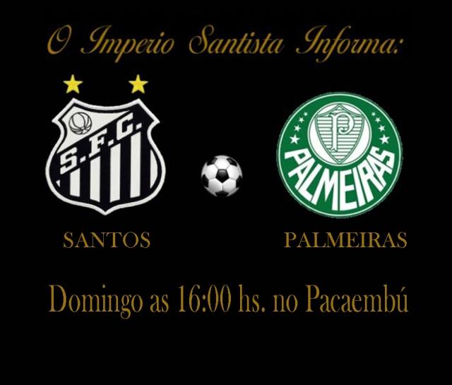Santos e Palmeiras se encontram no Pacaembú !