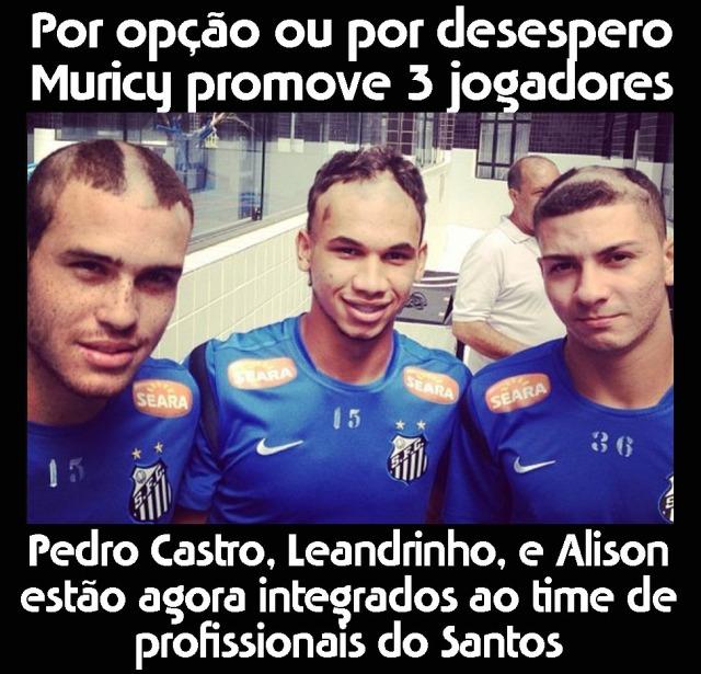 Pedro Castro, Leandrinho, e Alison agora são profissionais do Santos F.C. !