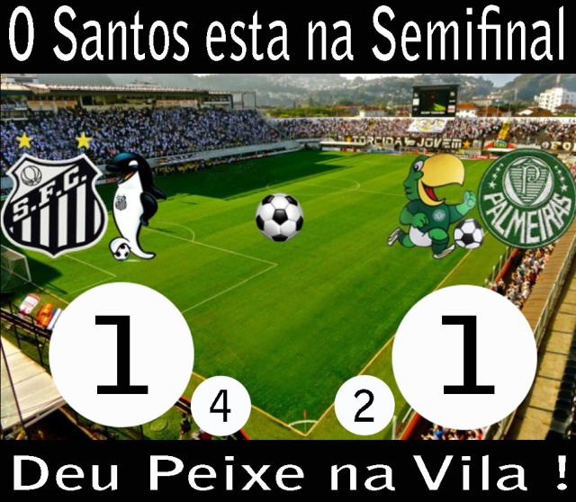 O Santos se classifica para as Semi-Finais do Campeonato Paulista, na Vila !