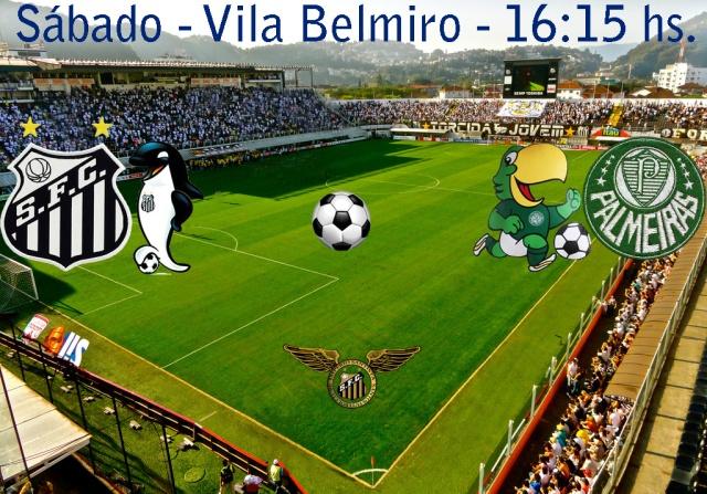 O Santos recebe o Palmeiras na Vila !