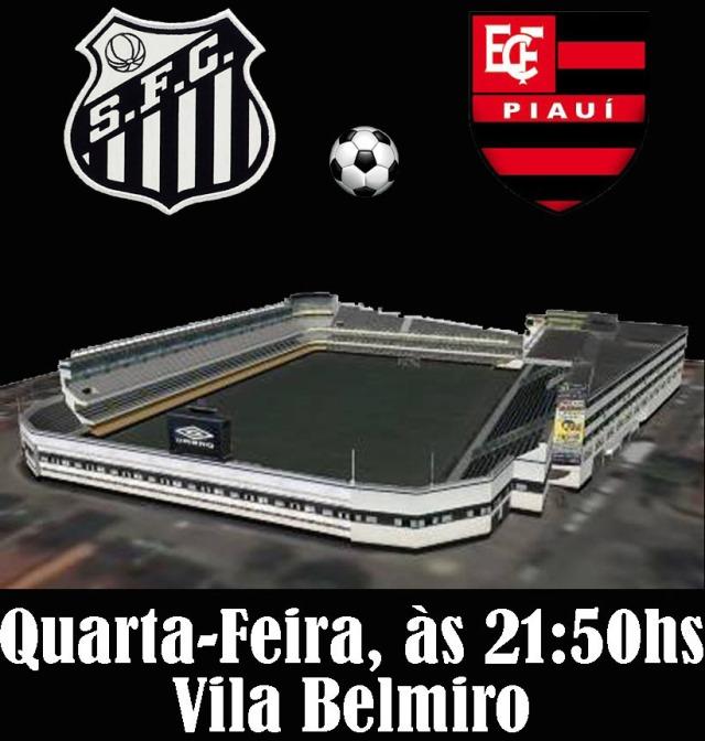 O Santos recebe o Flamengo-PI na Vila Belmiro, pela Copa do Brasil