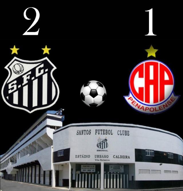 Santos vence o Penapolense na Vila !