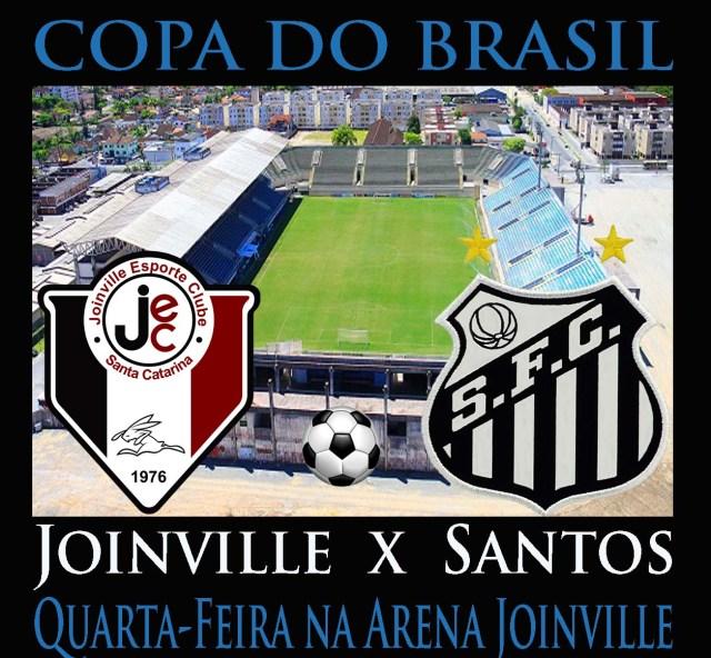 O Santos vai a  Joinville pela Copa do Brasil !