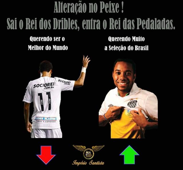 Sai Neymar, entra Robinho !  O que você acha ?
