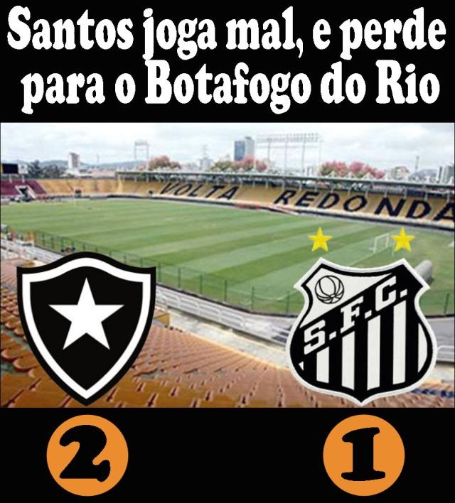 O Santos joga mal, e perde em Volta Redonda !