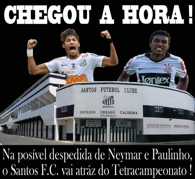 Em busca do Tetra, o Santos decide com o Corinthians !