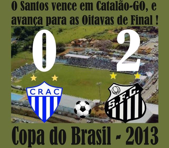 Santos vence, e avança na CB 2013 !