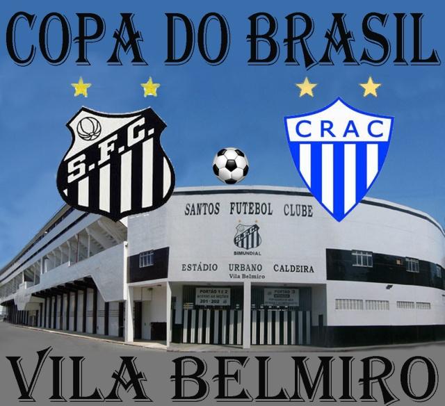 O Santos F.C. recebe o Crac de Goiás na Vila !