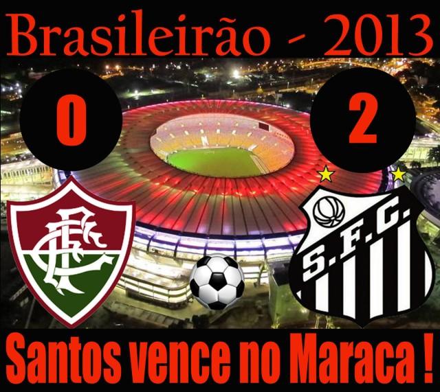O Santos bate o Fluminense no Rio !