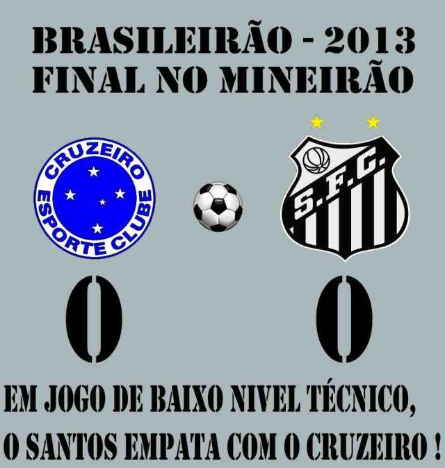 O Santos arranca empate no Mineirão !