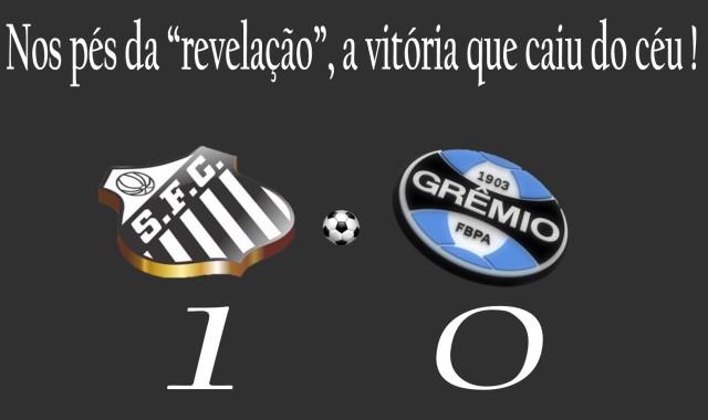 O Santos sai na frente, na disputa contra o Grêmio !