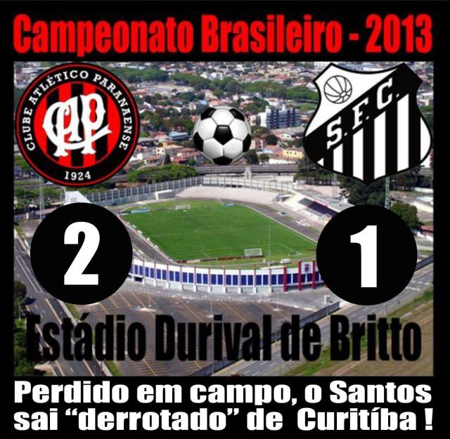 Santos sai derrotado de Curitiba !