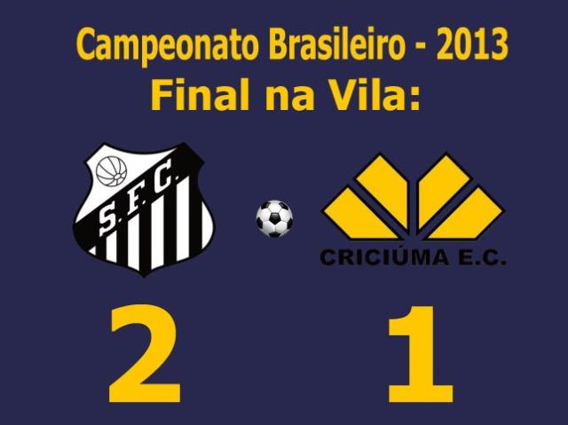 Em jogo de baixo nível técnico, o Santos bate o Criciúma na Vila Belmiro !
