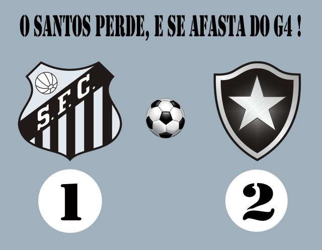 O Botafogo bate o Peixe na Vila !