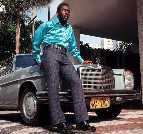 Pelé e sua Mercedez