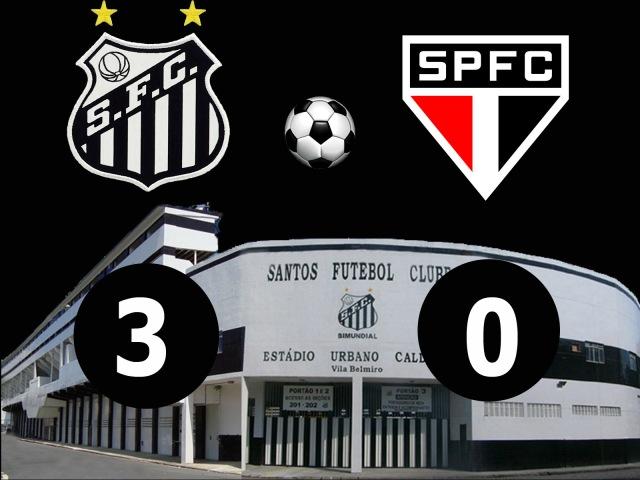 Com futebol convincente, o Peixe bate o fraco São Paulo na Vila Belmiro !