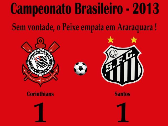 Medroso em campo, o Santos não sai do empate em Araraquara !