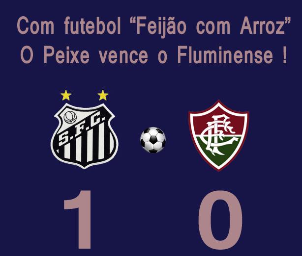 Santos vence e afunda o Fluminense !