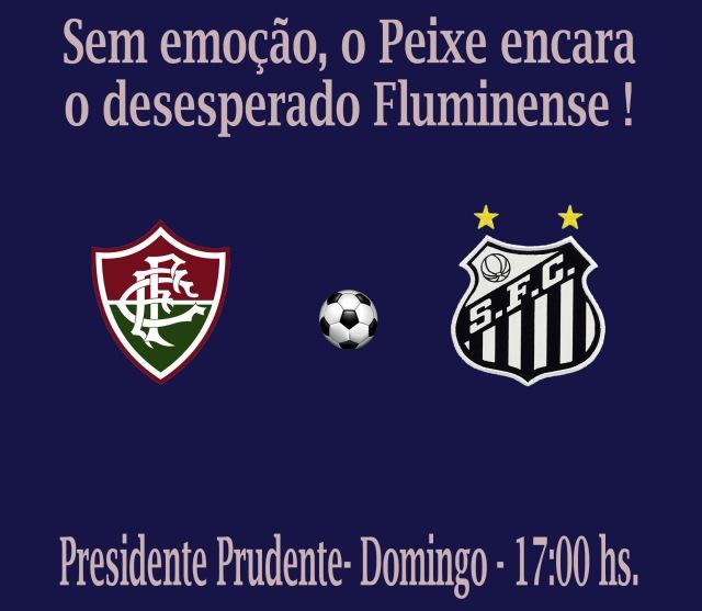 Para cumprir tabela, o Santos vai à Presidente Prudente para encarar o Fluminense !