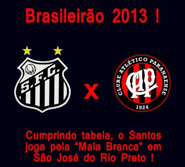 Como coadjuvante, o Peixe encara o Atlético Paranaense em São José do Rio Preto !