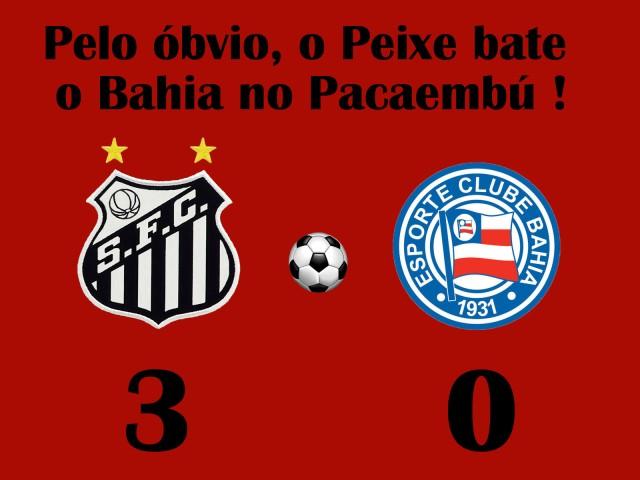 O Santos vence o fraco Bahia no Pacaembú !