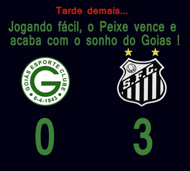 O Santos se despede do Brasileirão 2013, vencendo o Goiás no Serra Dorada !
