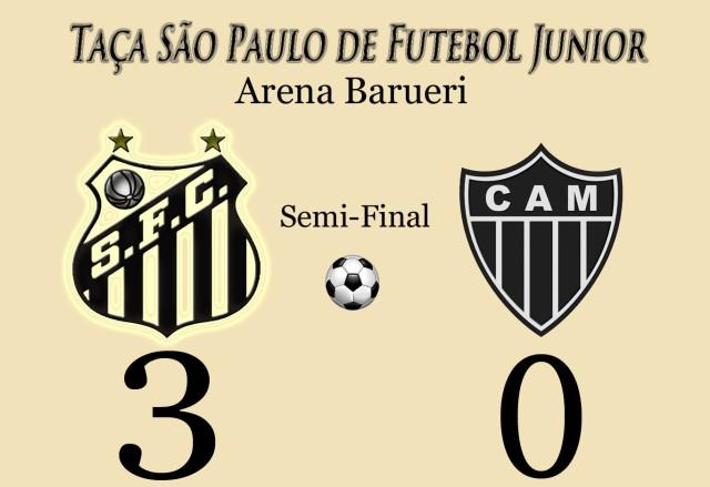 O Peixinho massacra o Atlético e vai para a final da Copa São Paulo