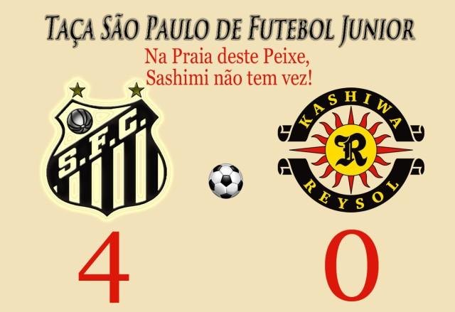 Jogando pelo resultado, o Peixe vence o Kashima Reysol !