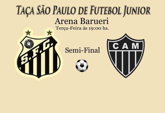 O Peixinho recebe o Atlético-MG pela Semi Final da Copa São Paulo de Futebol Junior !