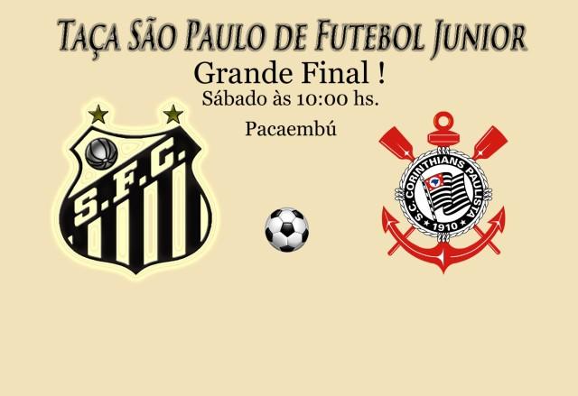 Santos e Corinthians fazem a grande final da Copa São Paulo de Futebol Junior no Pacaembú !