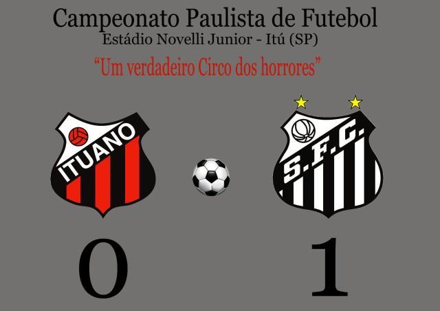 Com baixo nível técnico, o Santos acha um gol, e vence no Novelli Junior !