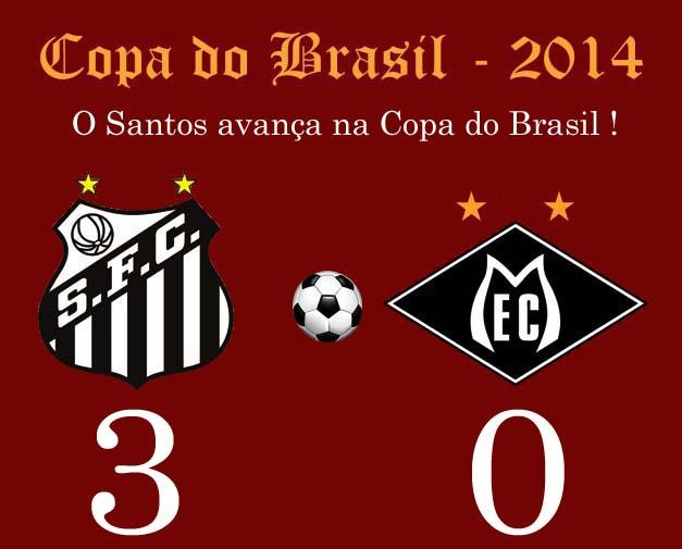O Peixe vence o fraco time do Mixto, e avança na Copa do Brasil !
